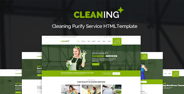 Cleaning – Purify Service HTML Site Template