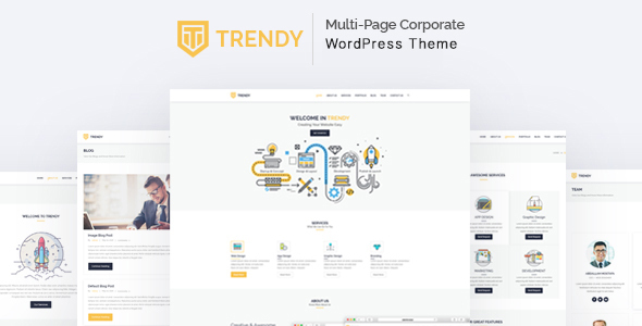 Trendy - MultiPage Corporate WordPress Theme - Corporate WordPress