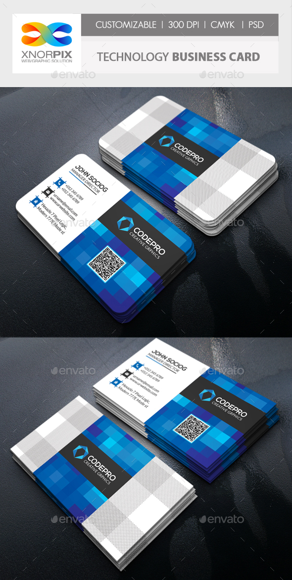 Technology Business card by -axnorpix | GraphicRiver