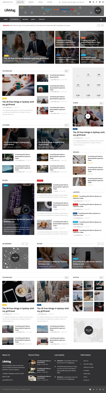 LifeMag - Responsive HTML Magazine Template by plazart | ThemeForest