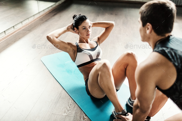 Sit-ups - Stock Photo - Images