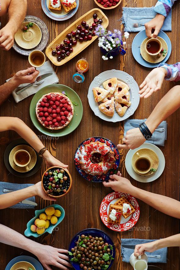 Tasty dinner - Stock Photo - Images