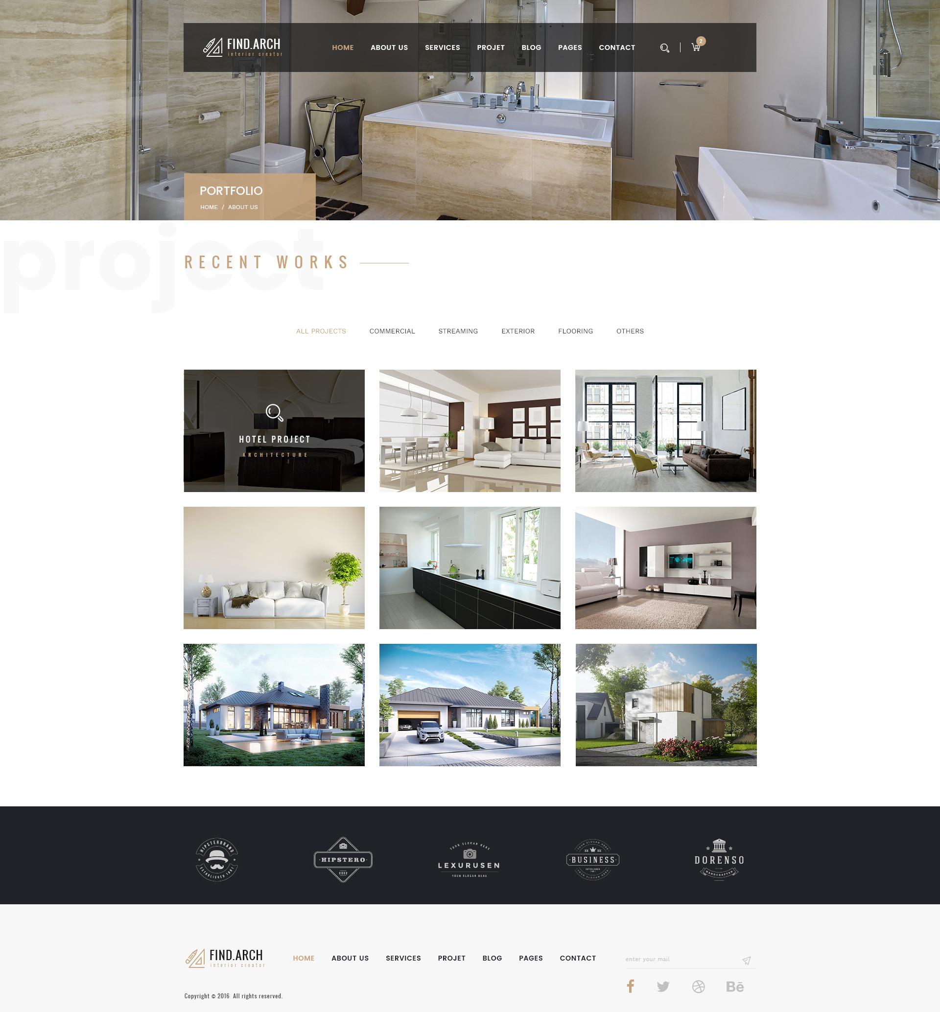 Find arc interior design architecture psd template by for Find interior decorator