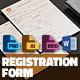 Registration Form - GraphicRiver Item for Sale