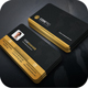 Golden Business Card - GraphicRiver Item for Sale
