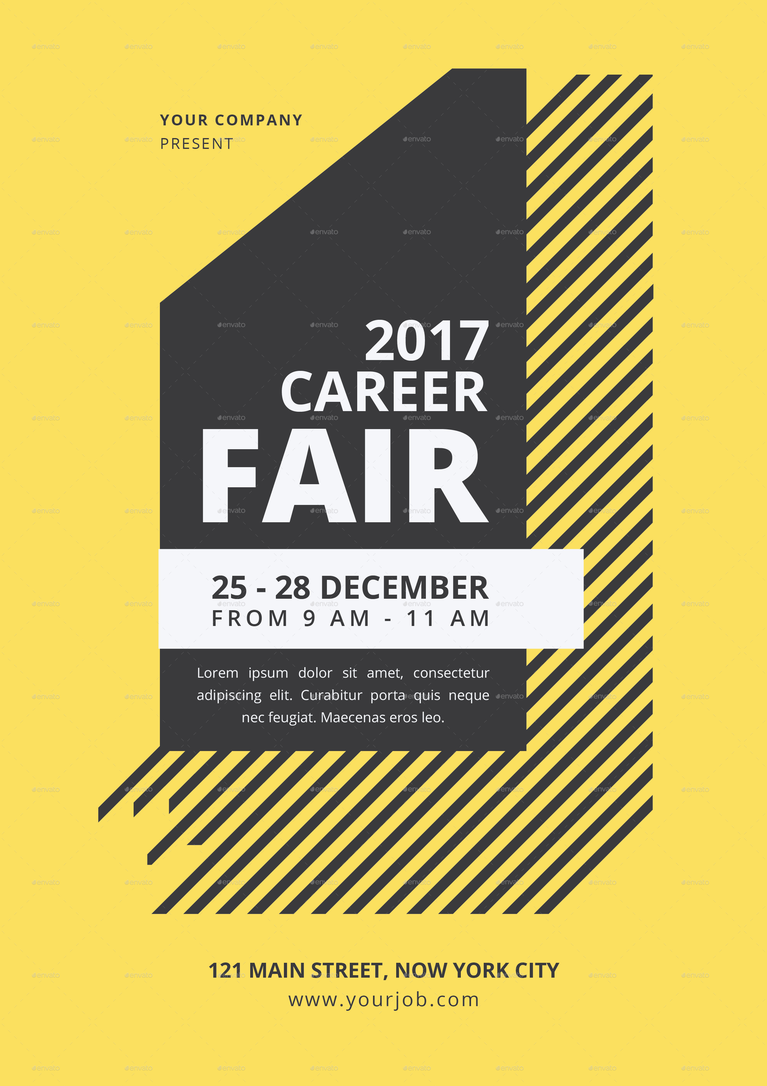 career fair flyer by tokosatsu graphicriver