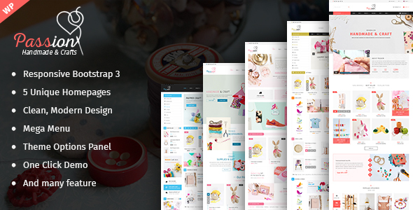 Passion – Handmade & Craft WooCommerce WordPress Theme