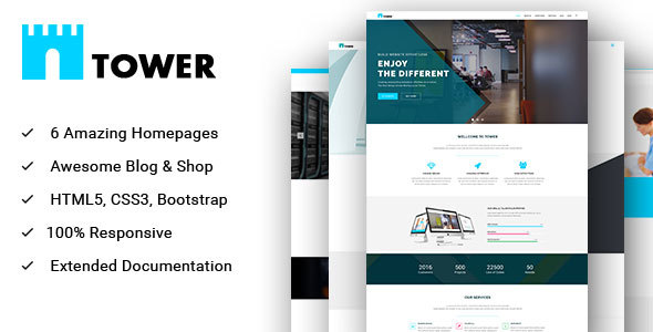 TOWER – Multipurpose HTML Template for Creative Business and Startups