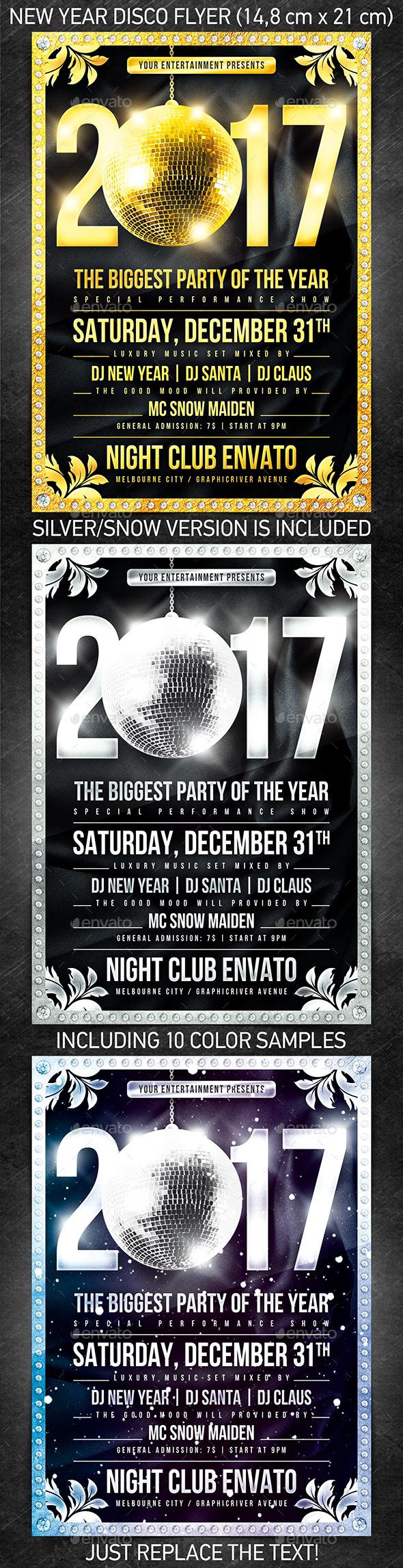 New Year Disco Flyer #1 - Print Templates