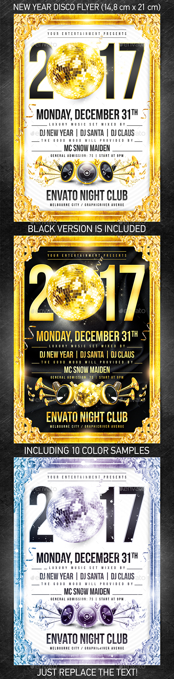 New Year Disco Flyer #2 - Holidays Events