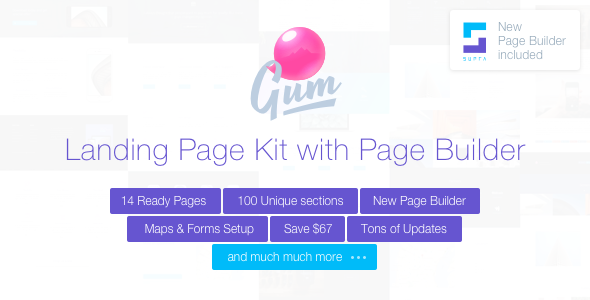 Gum – Landing Page Set with Page Builder