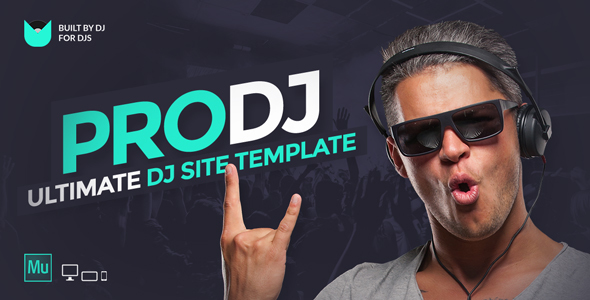 ProDJ - Creative DJ/ Producer Site Muse Template - Creative Muse Templates