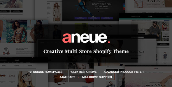 Aneue – Creative Multi-stores Shopify Theme