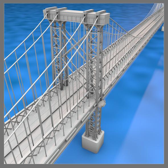 Williamsburg Bridge - 3DOcean Item for Sale
