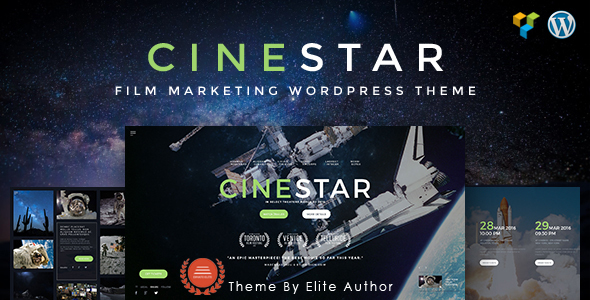 CINESTAR | Film Marketing Responsive WordPress Theme - Film & TV Entertainment