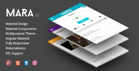 Mara | Material Design – Responsive Multipurpose Admin Theme