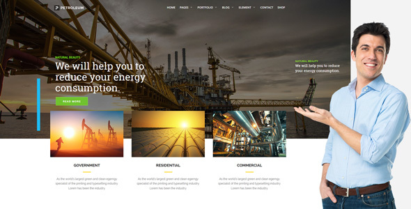 Petroleum - Oil, Gas and Chemical WordPress Theme