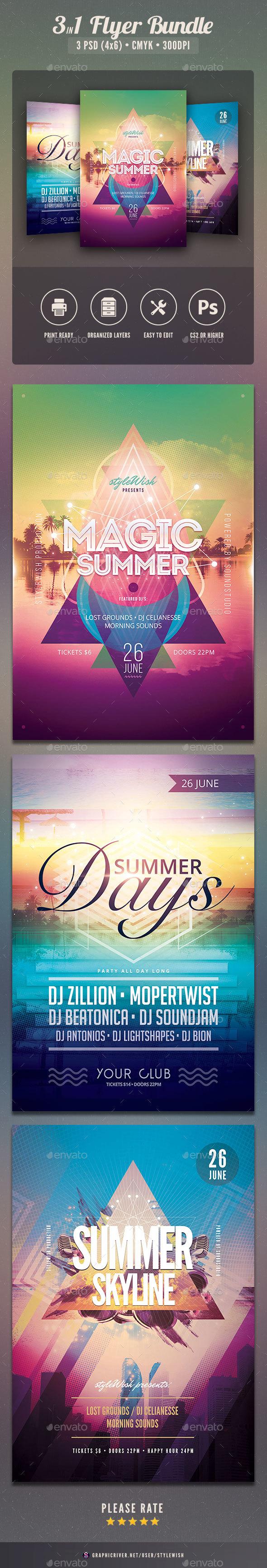 Summer Flyer Bundle Vol.03 - Clubs & Parties Events