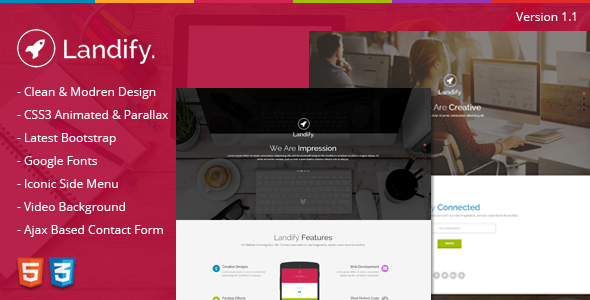 Landify - One Page Parallax - Creative Landing Pages