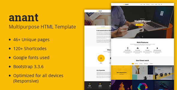 Anant | Multipurpose HTML Template