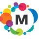 MultiCircles (Editable Letter) Logo