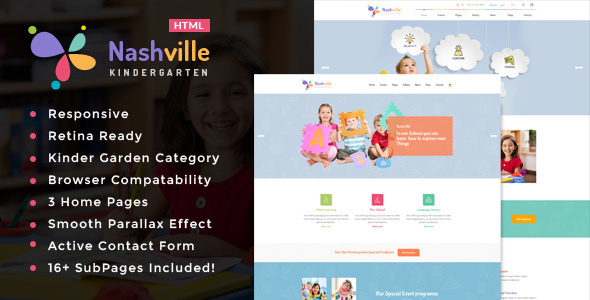Nashville – Kindergarten & School HTML Template