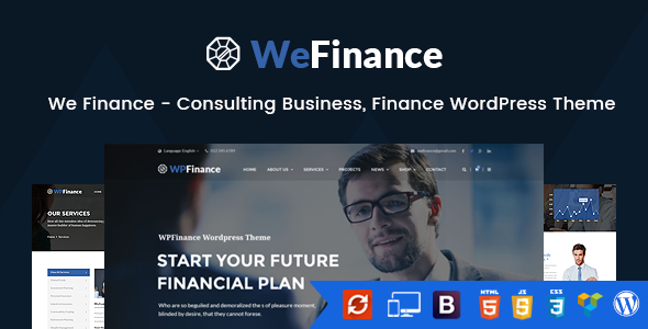 We Finance – Consulting Business, Finance WordPress Theme