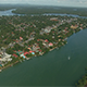 Flyover Coastal River Town - VideoHive Item for Sale