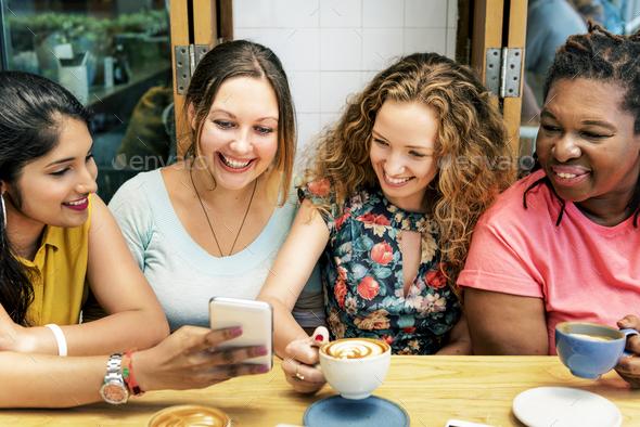 Diversity Women Socialize Unity Together Concept - Stock Photo - Images