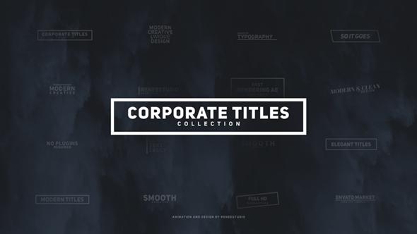 corporate titles pack by reneestudio videohive