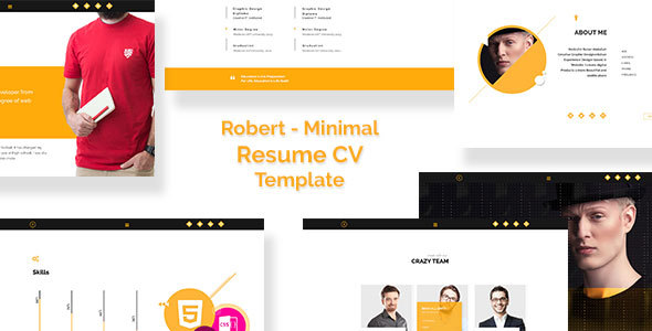 Robert – Personal Resume/CV Template