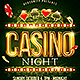 Casino Night Flyer Plus FB Cover - GraphicRiver Item for Sale