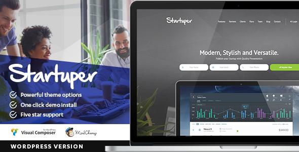Startuper – Startup Landing Page WordPress