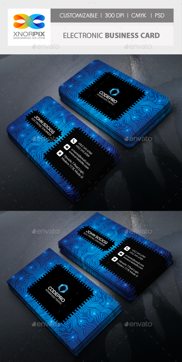 Electronic business card by axnorpix graphicriver electronic business card corporate business cards reheart Image collections