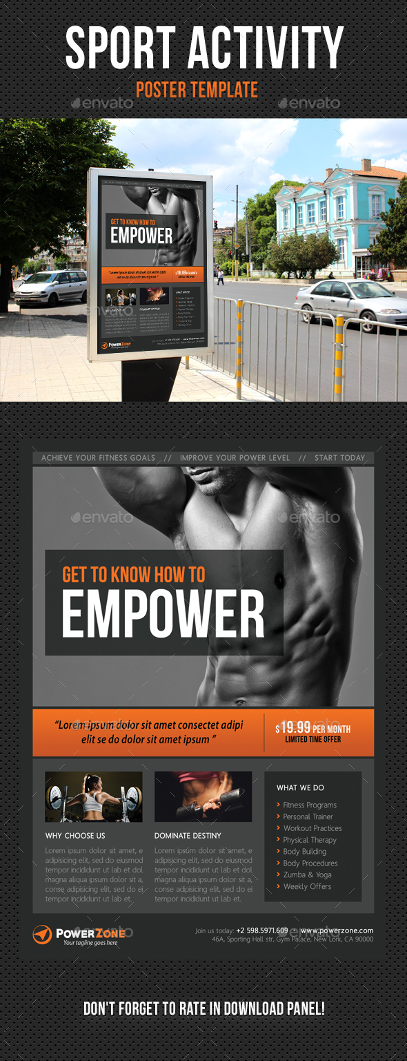 Sport Activity Poster Template V24 by rapidgraf | GraphicRiver