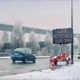 Cars On Highway In The Snow - VideoHive Item for Sale