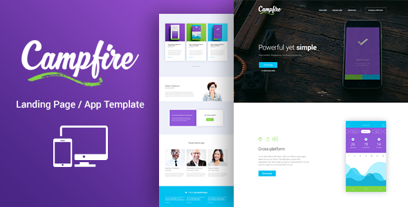 Campfire - Responsive WordPress Landing Page Theme - Software Technology
