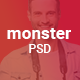 MONSTER - CREATIVE  PSD TEMPLATE