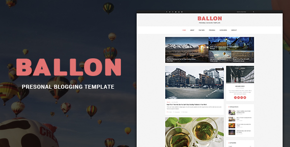 Balloon – Personal Blog Template