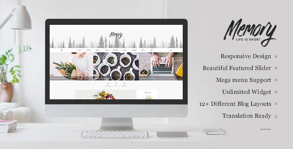 Memory - Mobile Friendly WordPress Blog Theme - Personal Blog / Magazine