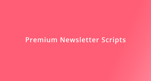 Contact form - Newsletter Script + User Management
