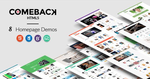 Comeback – Premium Multipurpose HTML5 theme