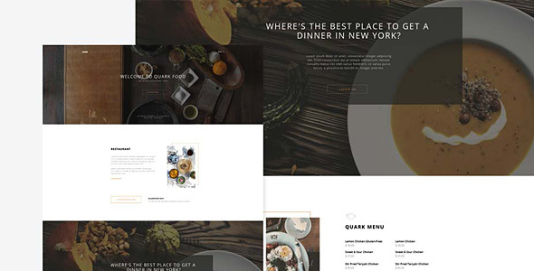 Quark – Restaurant Food WordPress  Theme