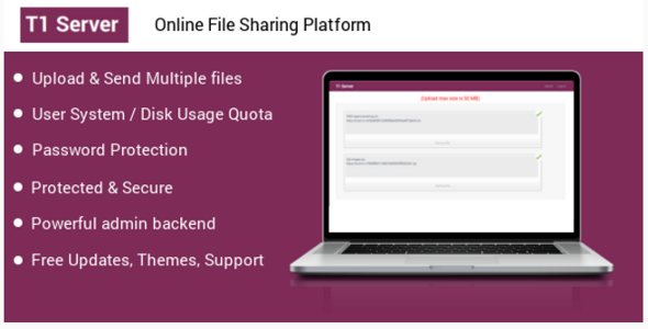 T1 File upload & sharing - CodeCanyon Item for Sale