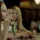 Woman Drinks Cocktail - VideoHive Item for Sale