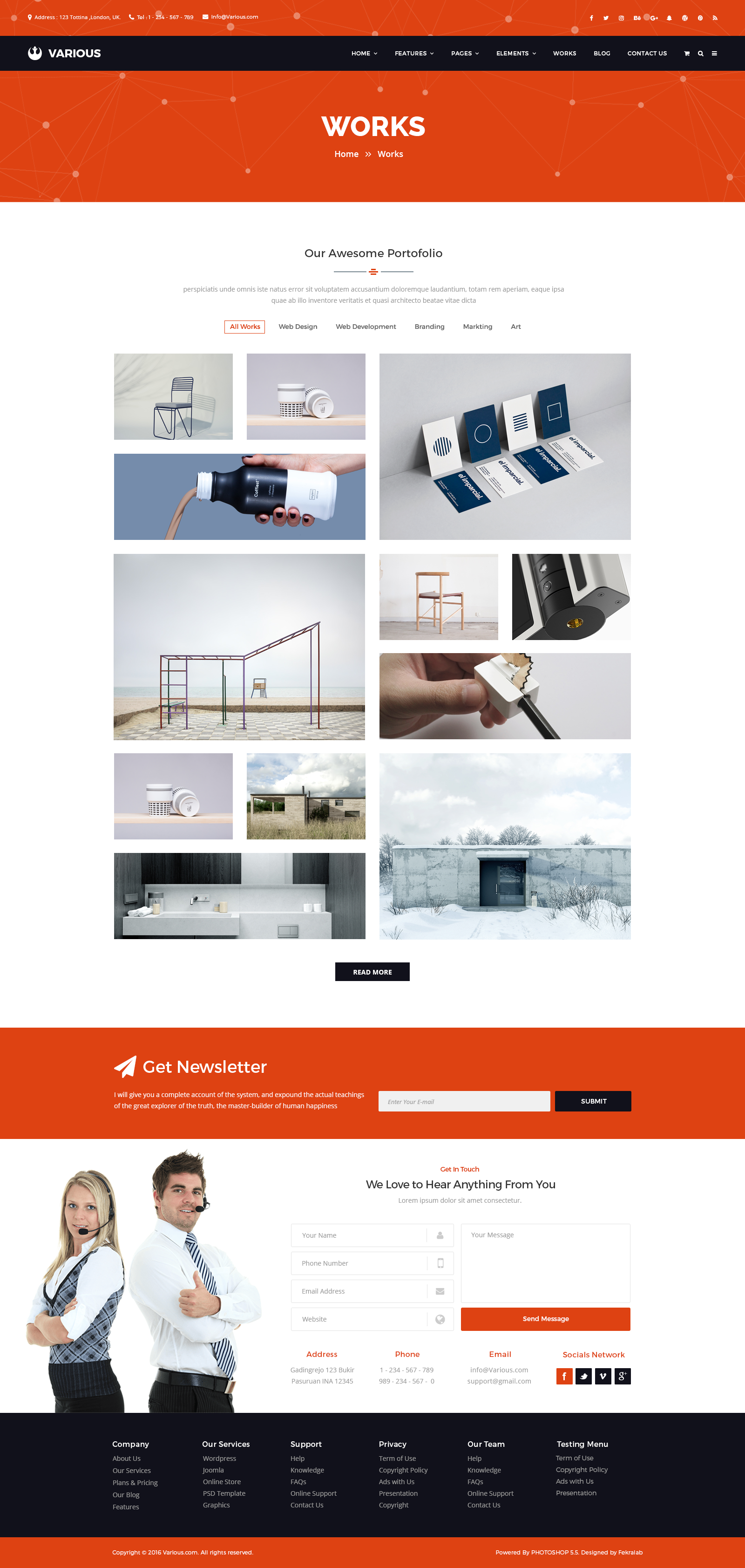 Various Business Corporate PSD Template By Fekralab ThemeForest - Web development company templates