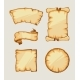 Medieval Retro Yellowish Blank Scrolls - GraphicRiver Item for Sale