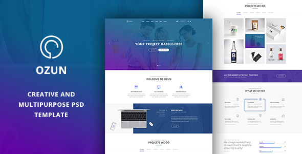 OZUN -  PSD Template - Corporate PSD Templates