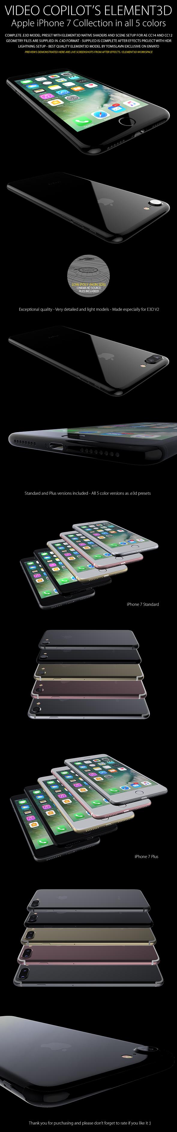 Element3D - iPhone 7 / 7 Plus Collection - 3DOcean Item for Sale