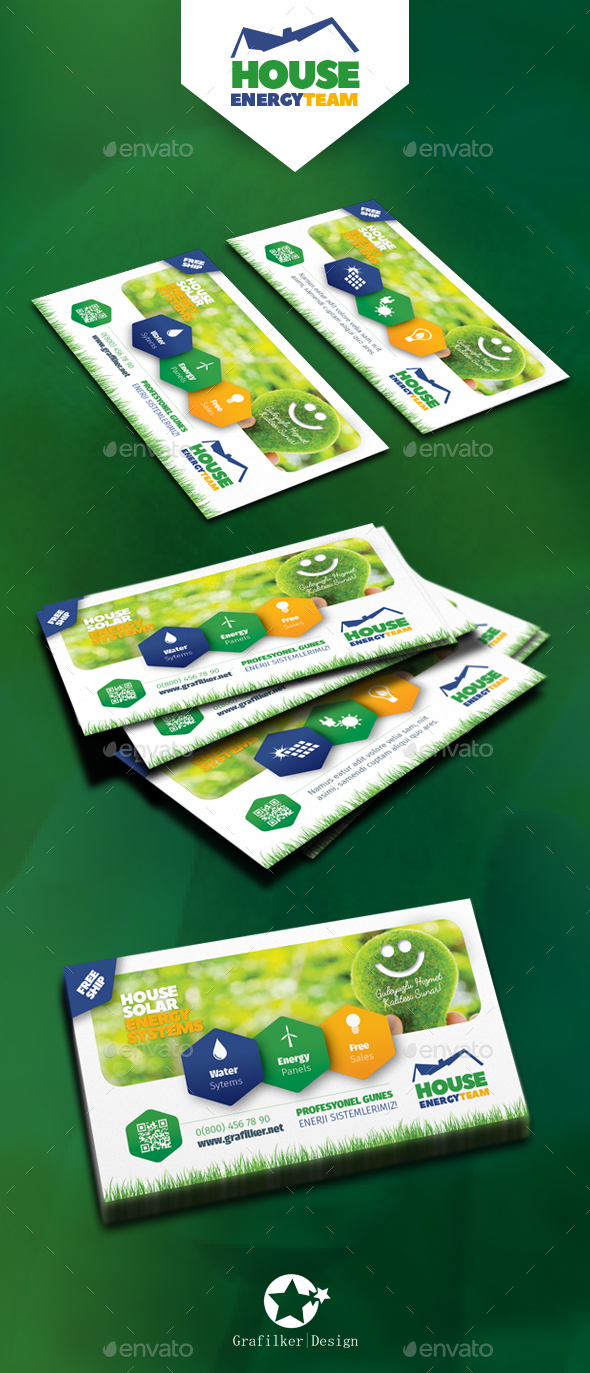 Solar energy business card templates by grafilker graphicriver solar energy business card templates corporate business cards flashek